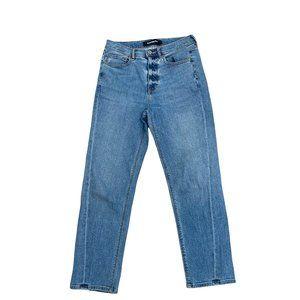 Express Jeans Mom Jeans Blue High Waist Size 6R